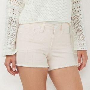 LC Lauren Conrad Gingham Stretch Midrise Shorts